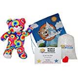 """Make Your Own Stuffed Animal """"Rainbows the Bear"""" - No Sew - Kit With Cute Backpack!"""
