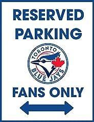 Reserved Parking Toronto Blue Jays Baseball Inspired Fans Only Retro Garage Novelty Gift Aluminium Metal Tin W
