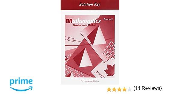 Amazon.com: McDougal Littell Structure & Method: Solution Key ...