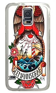 Angel PC Case Cover for Samsung S5 and Samsung Galaxy S5 Transparent by mcsharks