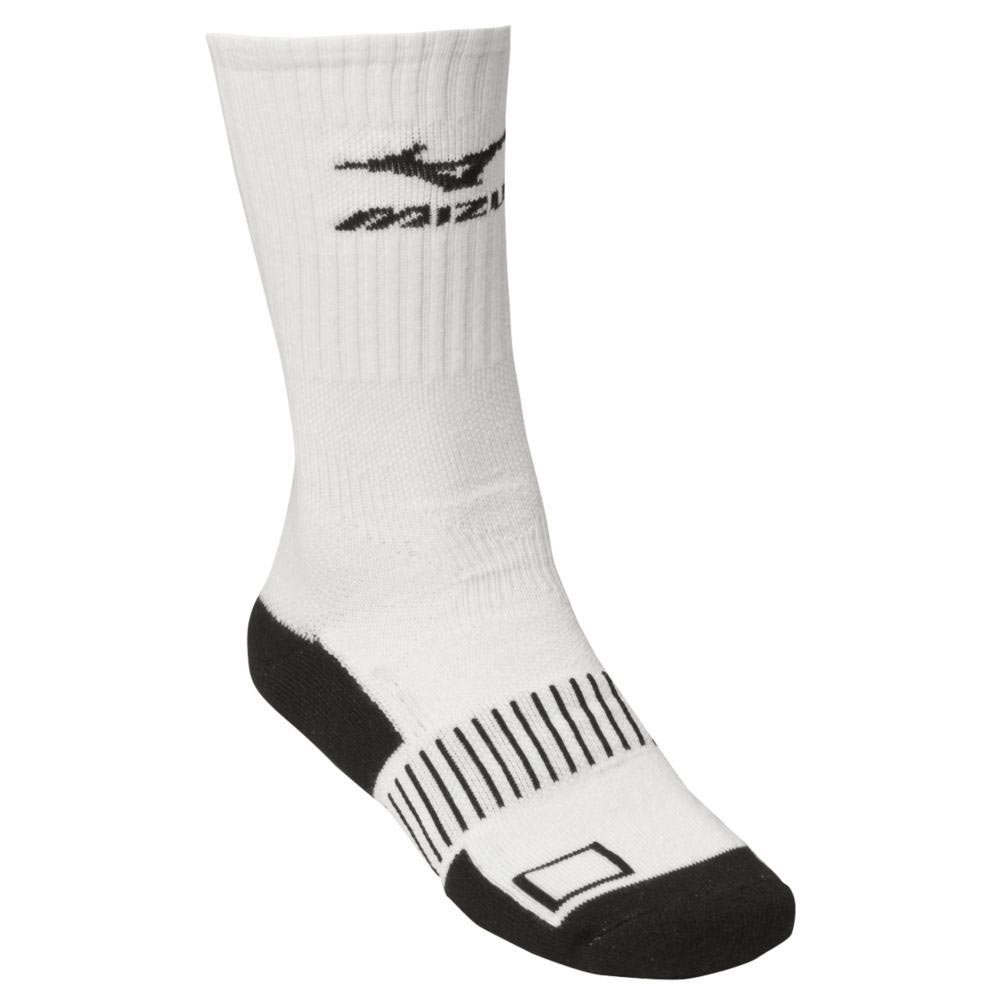 Mizuno Performance Plus Crew Sock (Medium/White) 480112