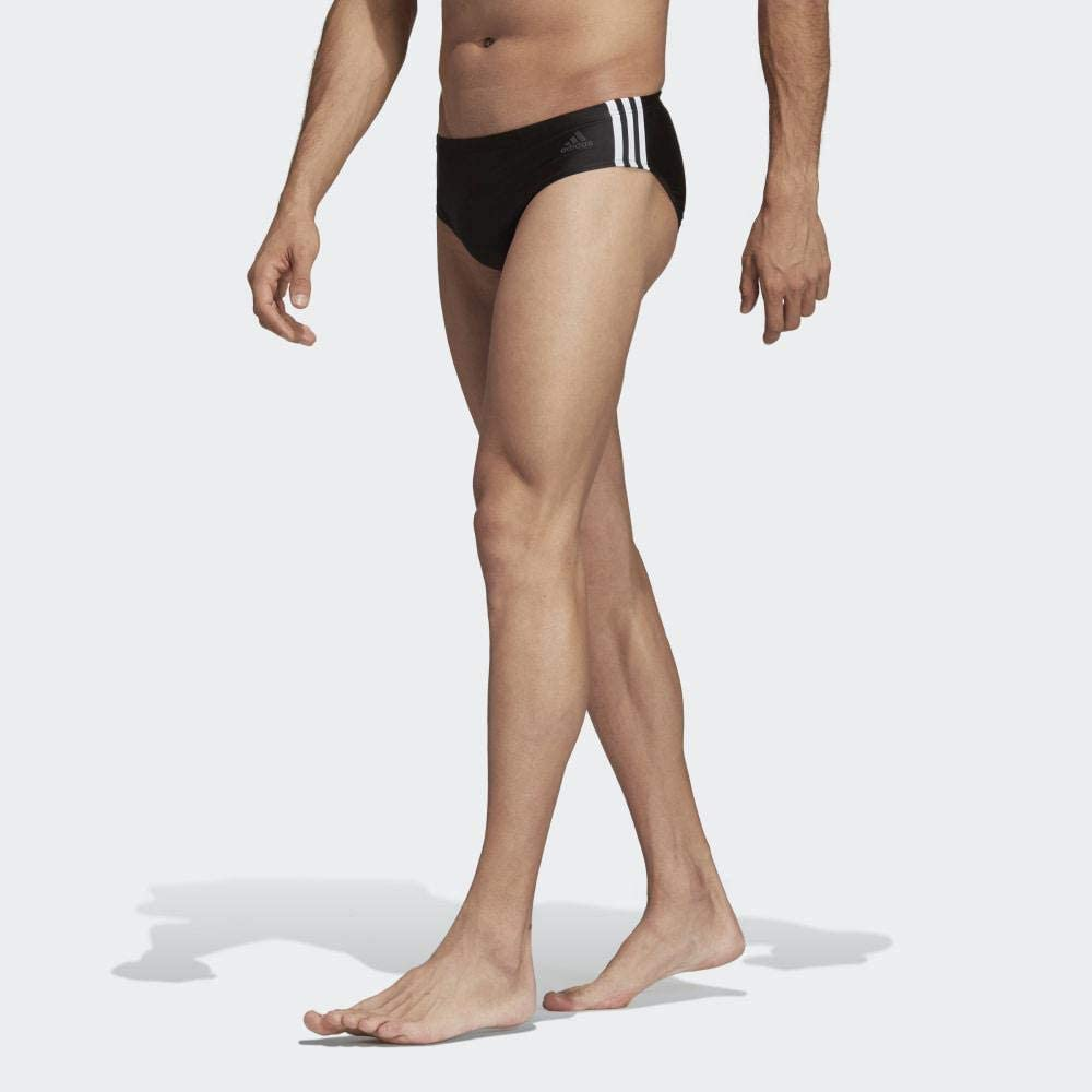Black//White 32 US-UK - 5 adidas Men Trunk Pool Swimming Swim Trunks 3 Stripes Performance Training New