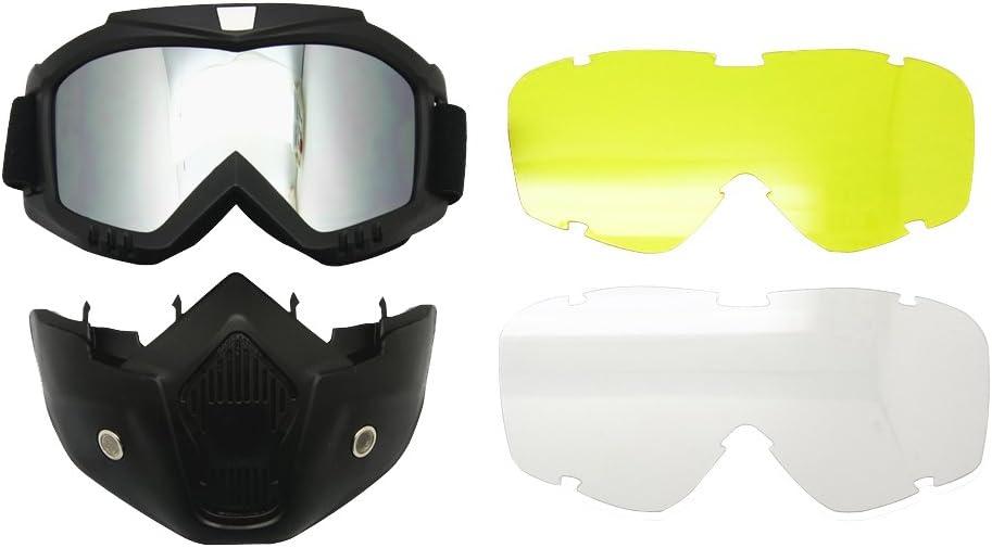 Motocicleta Bici de la Suciedad ATV Gafas Máscara Desmontable Proteger Acolchado Casco Gafas de Sol Montura en Carretera UV Gafas de Moto