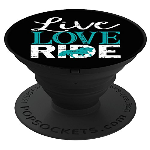 (CocomoSoul-Mobile Live Love Ride Horse Lover Horseback Riding Turquoise PopSockets Stand for Smartphones and Tablets)