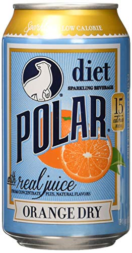 Polar Beverages Dry Juice, Orange, 12 Fluid Ounce (Pack of 12)