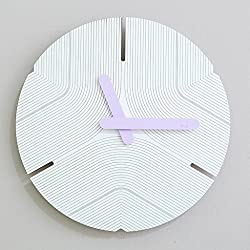 JLRQY Wall Clocks Mute Modern Creative Clock Circular For Home And Office 12Inch,E