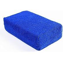 Car Wash Microfiber Sponges House Clean Sponge, Premium Grade Microfiber Applicators for Car Washing, Car Cleaning Kit, Car Exterior Care, Microfiber Applicator Pad for Cleaning (12 pcs, Blue)