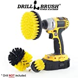 electric shower cleaner - Drillbrush Electric Spin Scrubber Brush Kit for Bathroom Tub and Shower. Easy Tile Grout Cleaner Tool - Includes Three Different Size Replaceable Scrubber Brush Heads