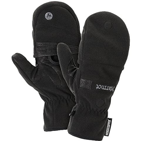 Marmot Men's Windstopper Convertible Glove, Black, X-Large