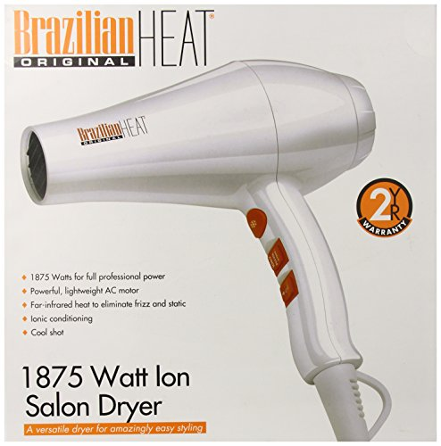 Brazilian Heat BBH3203 Brazilian Heat Ceramic Ionic Hair Dryer, 1875 Watt