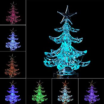 usb christmas tree small christmas decor glowing mini tree powered multicolor led changing lights for - Small Christmas Tree
