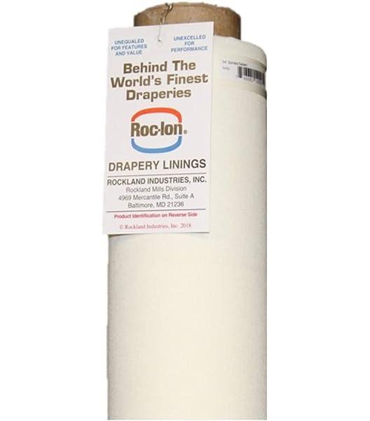 "Premium Polycotton Curtain Lining Fabric 54/"" Inch Ivory Cream Per 1m Metre"