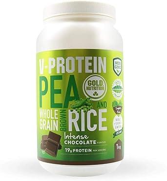 Goldnutrition V-Protein 1kg, Chocolate, Proteína Vegetal