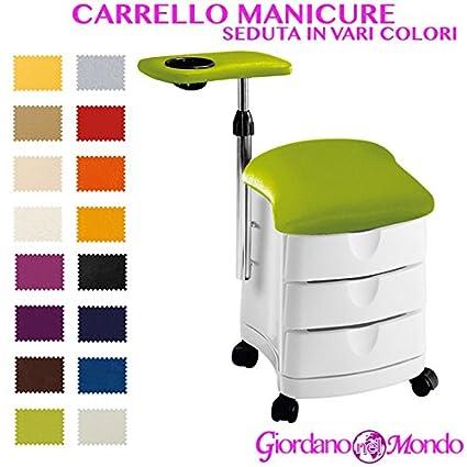 Carro Manicura estética profesional con taburete Manicura con taburete Manicura Ciak Ceriotti Ceriotti