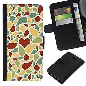 All Phone Most Case / Oferta Especial Cáscara Funda de cuero Monedero Cubierta de proteccion Caso / Wallet Case for Sony Xperia M2 // Love Heart Pattern