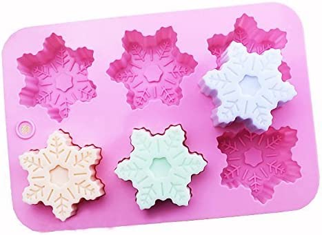 colore rosa Junicon con 6 cavit/à in silicone stampo per bombe da bagno