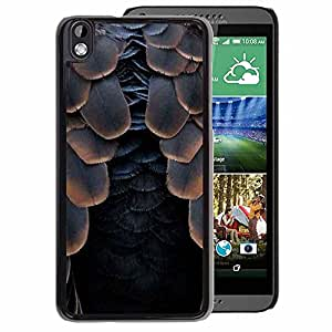 A-type Arte & diseño plástico duro Fundas Cover Cubre Hard Case Cover para HTC DESIRE 816 (Bird Feathers Raven Black Halloween)