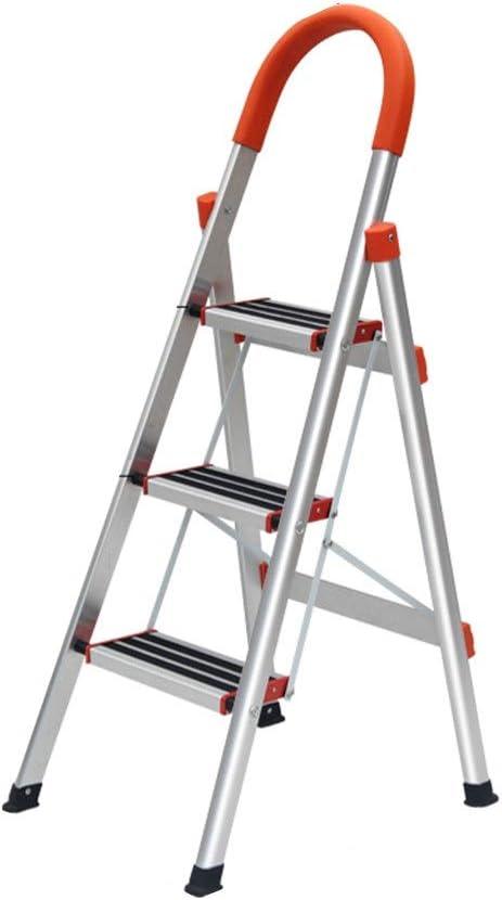 C-J-Xin Marco de la escalera de metal, cuatro pasos Refuerzo de tijera al aire libre emplazamiento de la obra Oficina General Perfil/Gran reposabrazos Diseño Arco Escalera de casa: Amazon.es: Bricolaje y herramientas