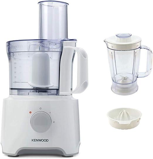 Kenwood MultiPro Compact 800W 1.2L Blanco - Robot de cocina (1,2 L, Blanco, De plástico, Acero inoxidable, 800 W, 200 mm): Amazon.es: Hogar