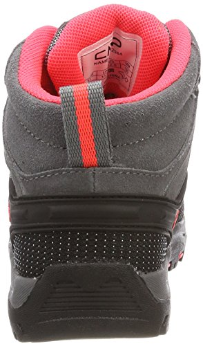 Gris Cmp 46ak Mid Fluo red Senderismo Unisex Adulto grey Zapatos De High Rigel Rise rrzwTqg