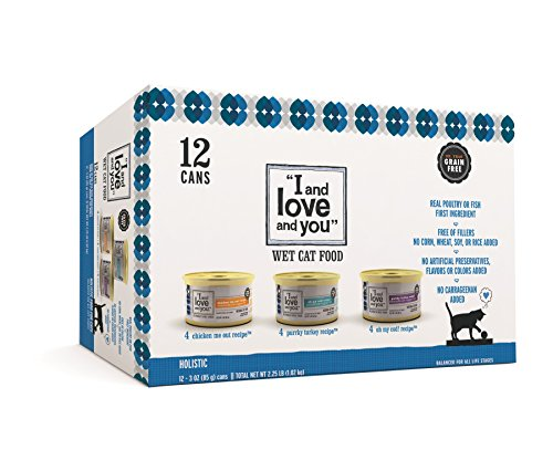 """""""I and love and you"""", Canned Variety Cat Food, 3-Ounce, (12 Pack)"""