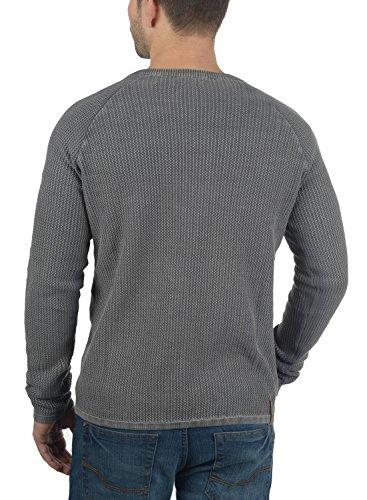 Gilet Cardigan En Pour Melange Homme100 Grey Grosse Tebi Maille solid Coton Veste qU7wExnHF