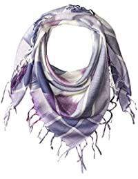 Women's Plaid Checkered Scarf with Fringe