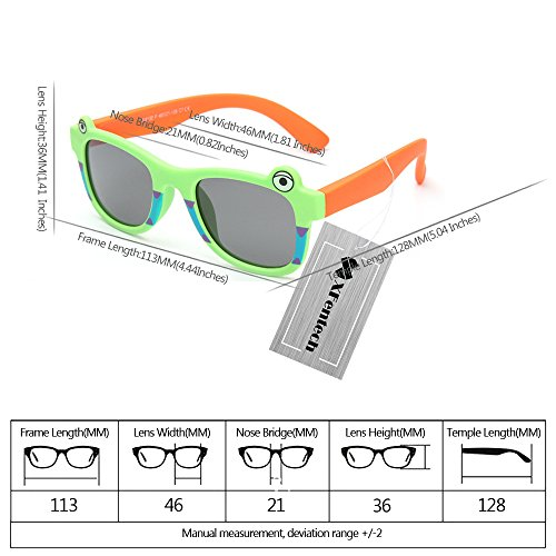 XFentech Gel de silice Matériel Frame UV400 Cartoon Lunettes de soleil pour Enfants Style 08