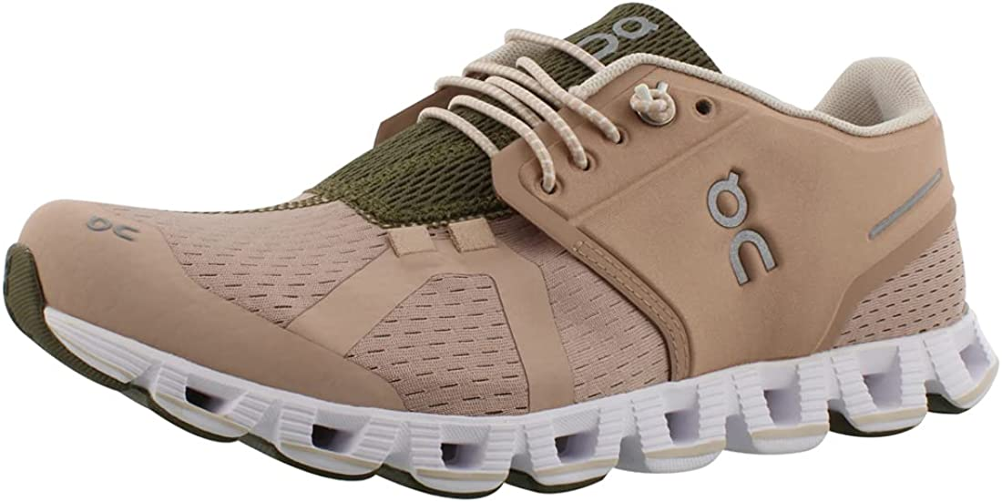 ON Running Womens Cloud Textile Synthetic Rosebrown Camo Trainers 8.5 US