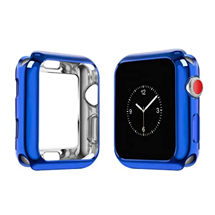 cheaper 61338 4954b top4cus Environmental Soft Flexible TPU Anti-Scratch Lightweight Protective  42mm Iwatch Case Compatible Apple Watch Series 4 Series 3 Series 2 Series  ...
