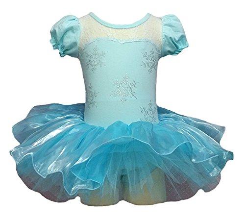 v28 Girls Ballet Tutu Dress Multi Styles (4-5 Years, Elsa Style)