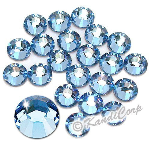 Swarovski - SS16 (4mm) Light Sapphire Crystal - Flatback - 144 pcs. (1 Gross) (Non-HotFix) ()