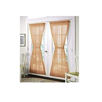 ArtOFabric French Door Burlap Curtain Panel