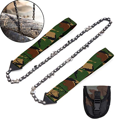 Pocket Chainsaw, 24 Inch Survival High Limb Rope Chain Saw, Camping Hand Chainsaw for Tree