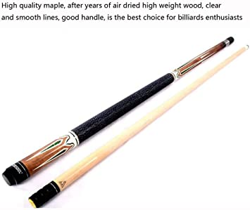 TBTBGXQ Pool Cues 58 Pulgadas Estilo Americano 9 Bolas Big Head Maple Snooker Cues 1/2 Joint 12.7mm Tips: Amazon.es: Deportes y aire libre
