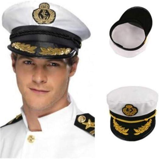 Cappello da capitano di yacht nave comandante barca marinaio