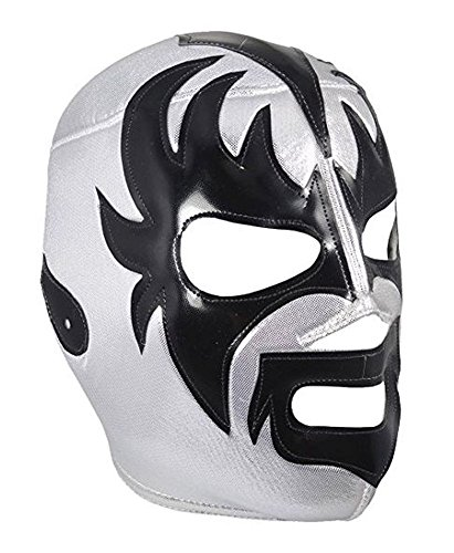 Del Mex Lucha Libre Adult Luchador Mexican Wrestling Mask Costume (KISS (Silver/Black))]()