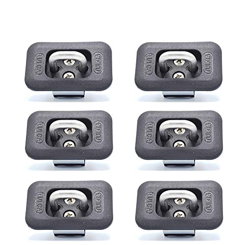(Truck Bed Retractable Tie Down Anchors 6 Pieces Pack Hook Ring for Pick up Trucks 2015-2019 Ford F Series 2017-2019 Super Duty)