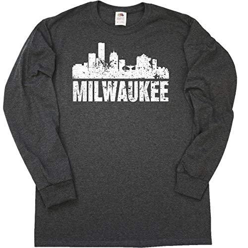 (inktastic - Milwaukee Long Sleeve T-Shirt XX-Large Retro Heather Black 355e0 )
