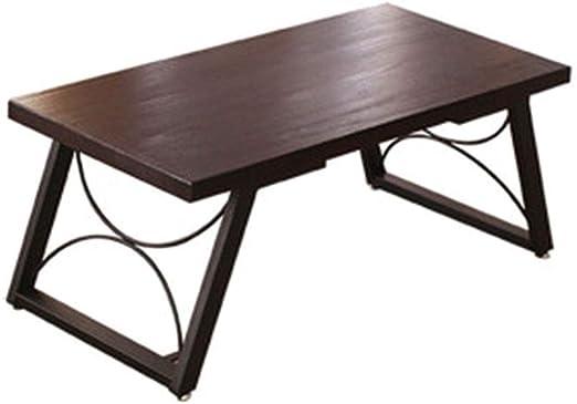 Mesa de café Estilo japonés Simple Mesa de Madera Maciza de Tungmu ...