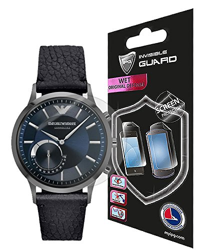 for Armani EA Connected Watch Screen Protector (2 Units) Invisible Ultra HD Clear Film Anti Scratch Skin Guard - Smooth/Self-Healing/Bubble -Free by IPG