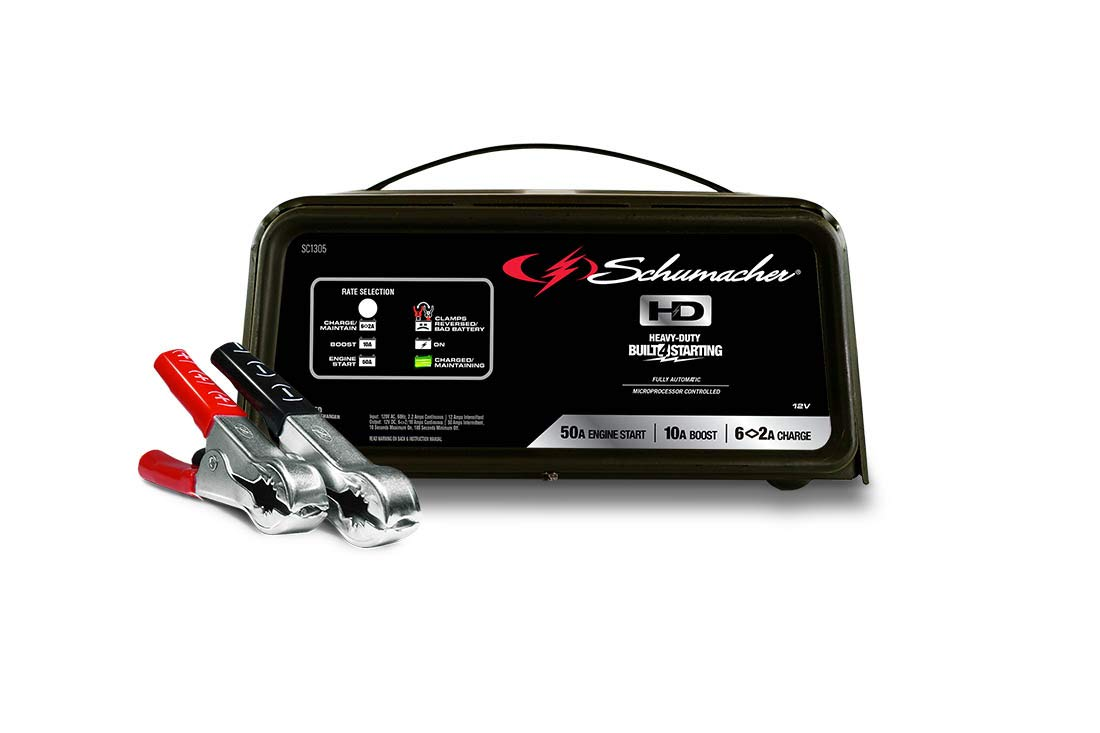 Schumacher SC1305 12V Fully Automatic Battery Charger and 10/50A Engine Starter by Schumacher (Image #1)