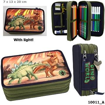 Dino World 3 Compartimento de embalaje original funda LED 3 llenas estuche Estuche *, *: Amazon.es: Salud y cuidado personal