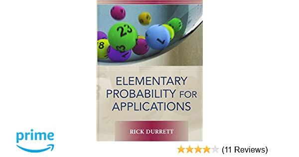Amazon elementary probability for applications 9780521867566 amazon elementary probability for applications 9780521867566 rick durrett books fandeluxe Gallery