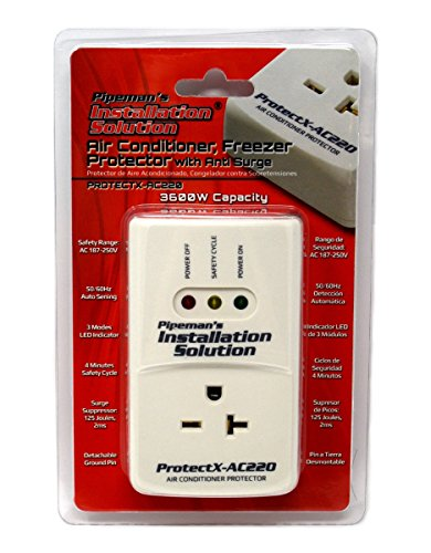 Pipeman's Installation Solution AC 220v Surge Brownout Voltage Protector 3600 Watts Air Conditioner (New Model) (Best Surge Protector For Air Conditioner)