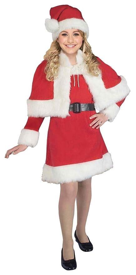 Amazon.com: Little Miss Navidad disfraz de Santa – niño ...