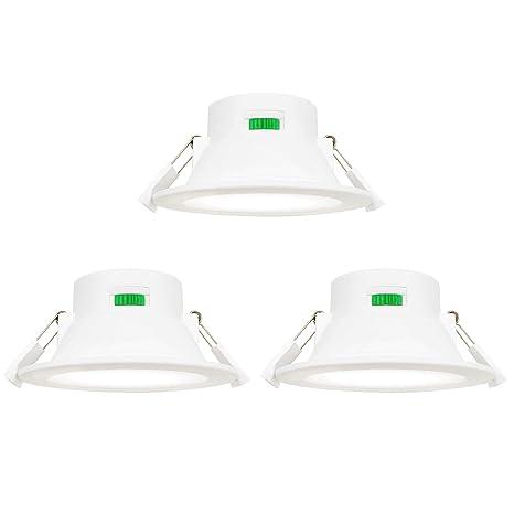 Lamparas Plafones Focos Empotrables de Downlight LED de Techo Regulables 10W Luz Calida y Fria Ajustable 3000K 4000K 5000K 220V-240V Agujero del Techo ...