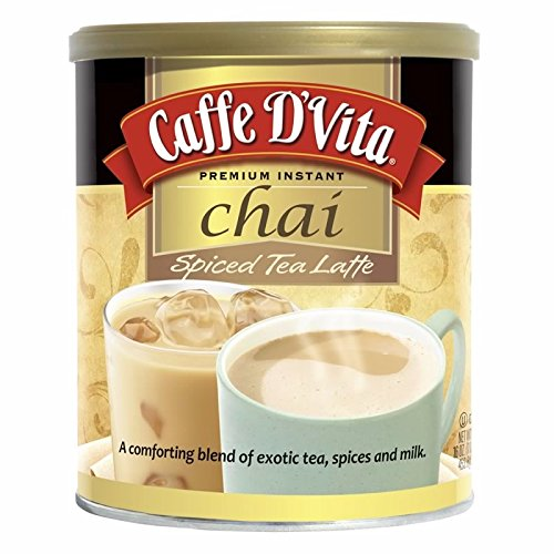 Enchanted Chai Spiced, 16-Ounce Canister (Pack of 6) by Caffe D'Vita