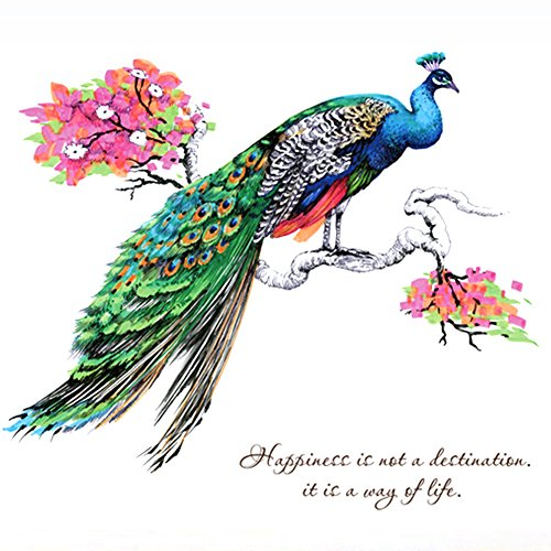 Sundlight Personalized Creative Peacock Wall Sticker for Home Decoration Living Room / Bedroom
