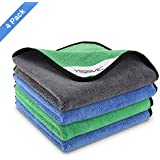 YISSVIC Microfiber Cloth 4 Pack 800 GSM Car Wash Towel Super Absorbent Dust Cloths for Detailing, Buffing, Polishing(15.7 inch x 15.7 inch)